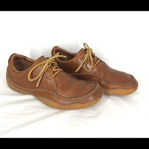 Patagonia Cedar Brown Lace Up Loafers 10 Comfort